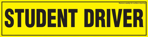 Magnetic 'Student Driver' Bumper Sticker, 12 X 3 Inches