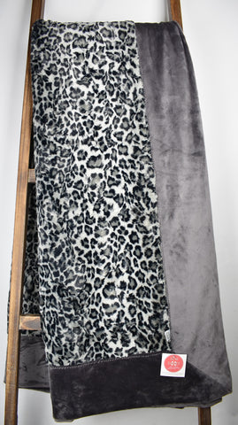 Leopard Steel / Solid Charcoal - Extreme Snuggler