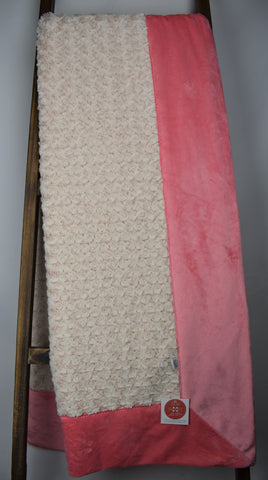Frost Rose Coral Beige / Solid Coral - Extreme Snuggler