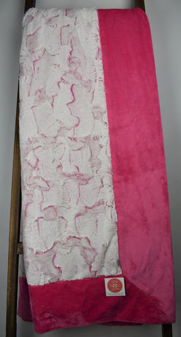 Frosted Hide Carnation / Solid Fuchsia - Extreme Snuggler