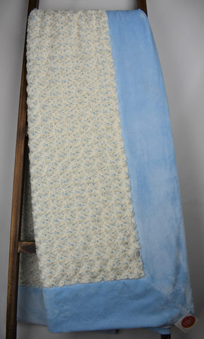 Frosted Rose Baby Blue Beige / Solid Baby Blue - Extreme Snuggler