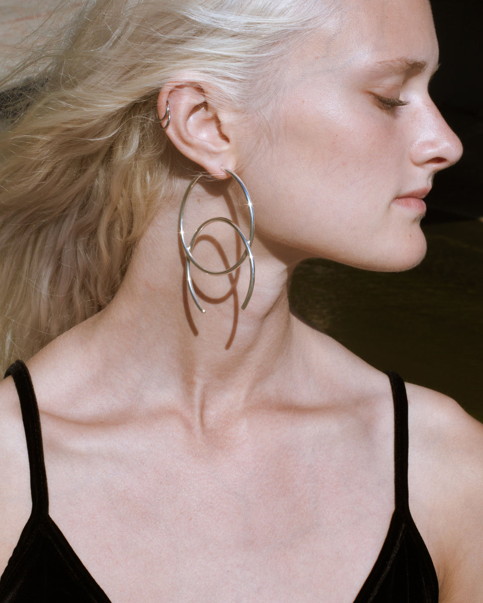 HALF HOOP EARRINGS - Jewelry | THE RIIA