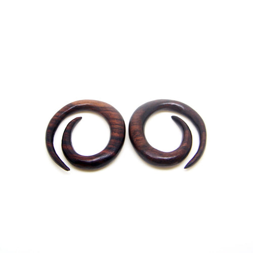 0 gauge spiral egg ear expander, hippie style 0g 8mm 1/3