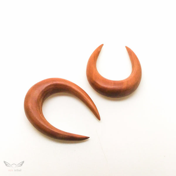 Saba wood 8mm 0g plugs gauges BC129-08