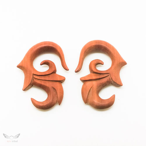 0 gauge wooden ear expander, 8mm 1/3
