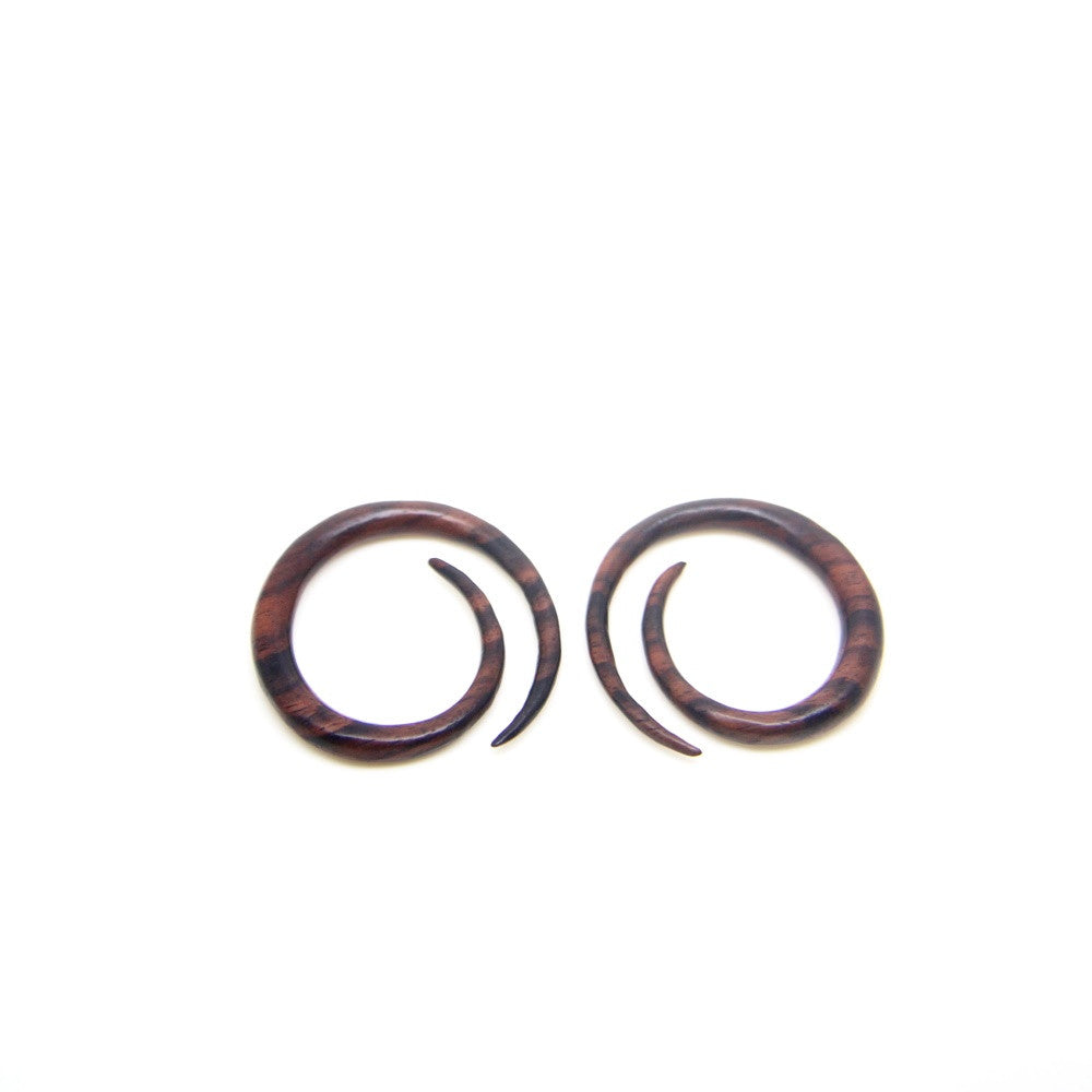 2 gauge spiral egg ear expander, 1/4