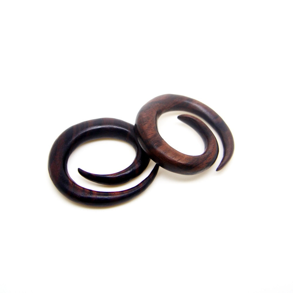 00 gauge spiral egg shape taper plugs BA124-10