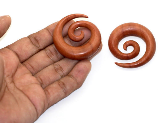 "Ayu Tribal Jewelry | 12mm 0000ga 1/2"" spiral wood gauges"