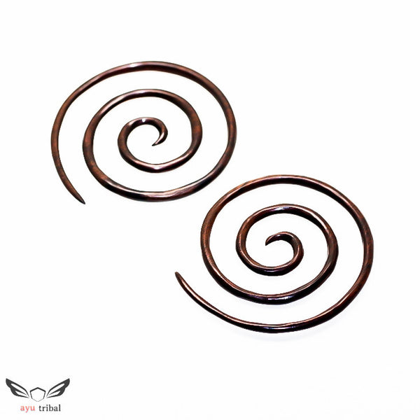 6 Gauge triple spiral plugs taper, 4mm 6ga XXL wood gauges BA040-04