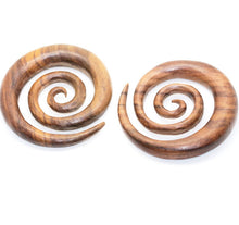 Ayu Tribal Jewelry | 10mm 00ga wood gauges, XXL spiral earrings