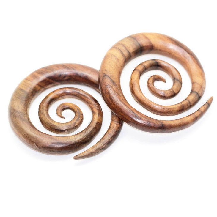 Ayu Tribal Jewelry | Large wood earring 10mm 00ga plugs gauges