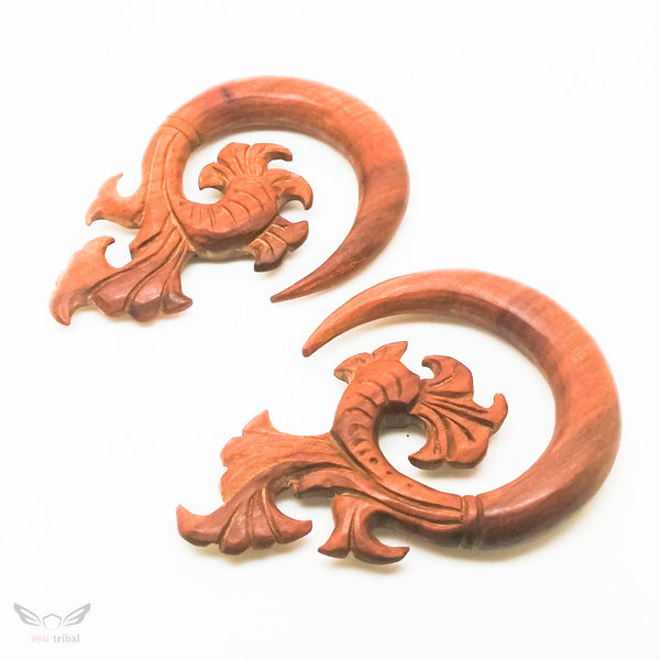10mm gauge, tribal style 00g ear plugs BC132-10