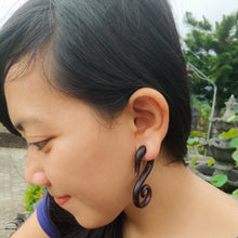 """S"" Monogram fake gauge earrings"