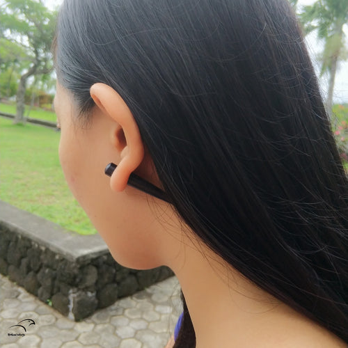 Faux 0g taper wood earrings AA123