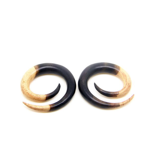 12mm gauge spiral taper, 0000g ear plugs wood gauges BB124-12