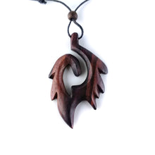 Wood carving boho necklace FA007