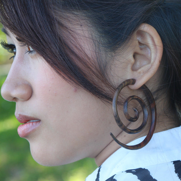 Large Spiral Earrings AA040