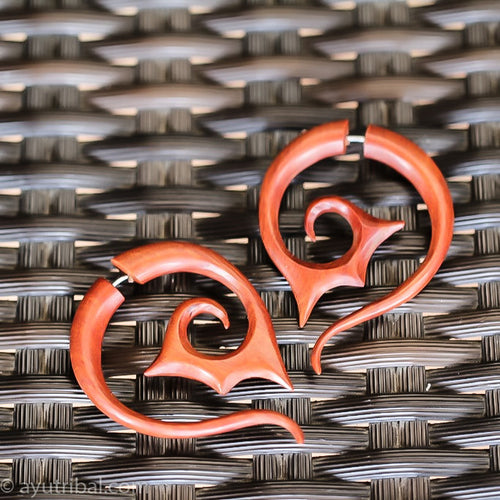 Tribal spiral fake taper earrings AC052
