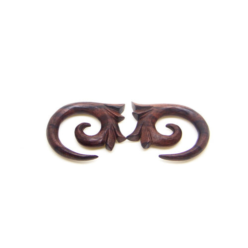 2 gauge plugs earring tribal spiral 1 4 6mm 2g wood ear plugs gauges ba054-06