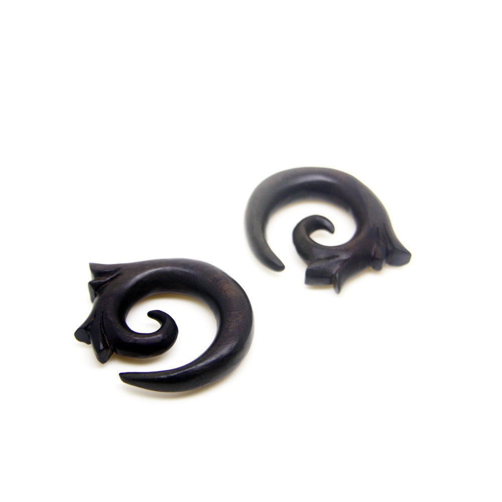 0000ga wooden ear gauges, 1/2