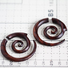 Double spiral faux plugs gauges AA049