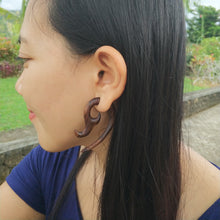 Faux ear taper, wood earrings, tribal mayan fake gauges