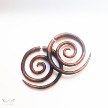 Triple spiral fake gauge earrings AA040