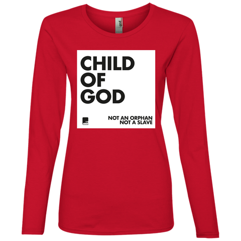 Child of God Red Ladies long sleeve