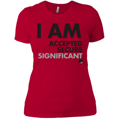 I am Significant Ladies Red Athletic T