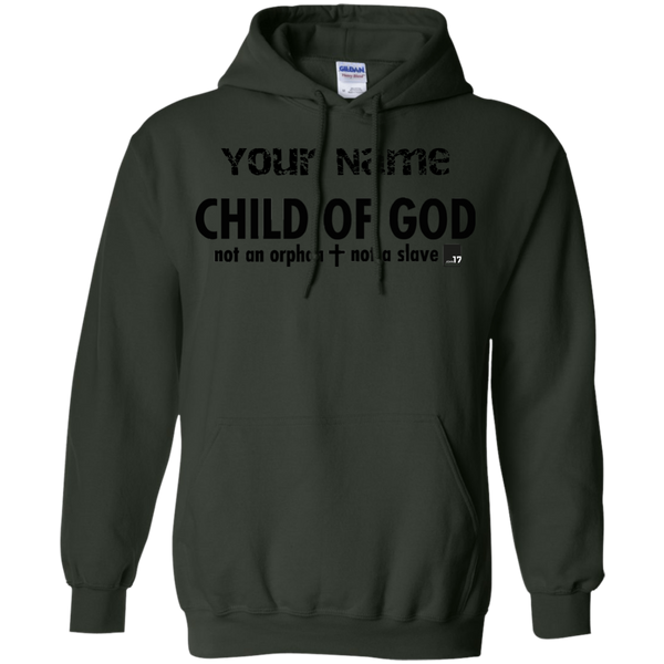 Put your name on a Child of God Forest Green Pullover Hoodie