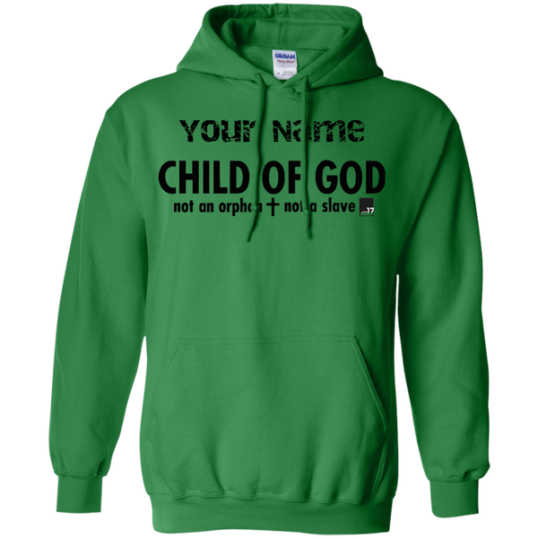 Put your name on a Child of God Irish Green Pullover Hoodie
