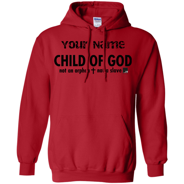 Put your name on a Child of God Red Pullover Hoodie