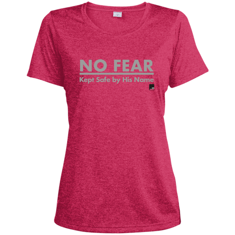 No Fear Ladies Pink Raspberry Heather Muscle Dri-Fit Tech