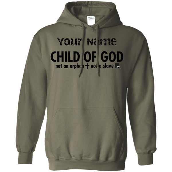 Put your name on a Child of God Military Green Pullover Hoodie