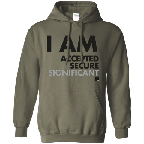 I am Significant Military Green Pullover Hoodie