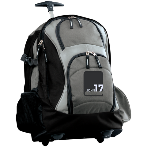 John17 Gray/Black Travel Sports Duffel