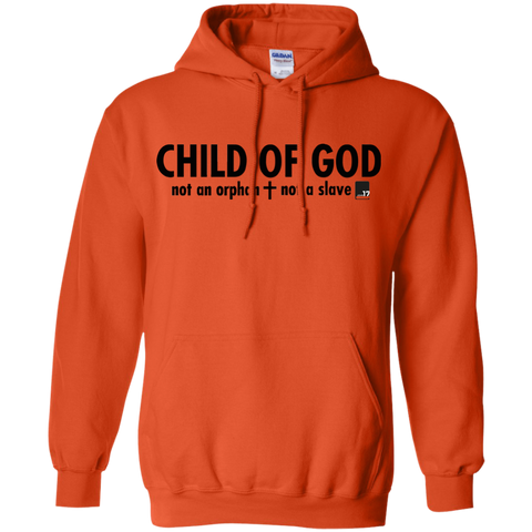 Child of God Orange Pullover Hoodie