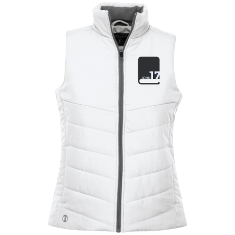 John17 Ladies' white Quilted Vest