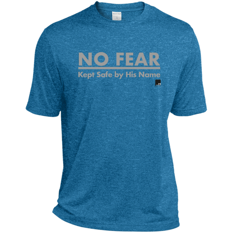 No Fear Men's Muscle Blue Wake Heather Dri-Fit Tech short sleeve