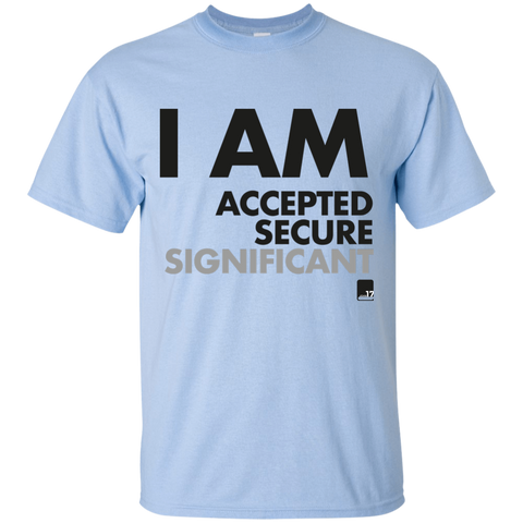 I am Significant Men's Light Blue Athletic T short sleeve