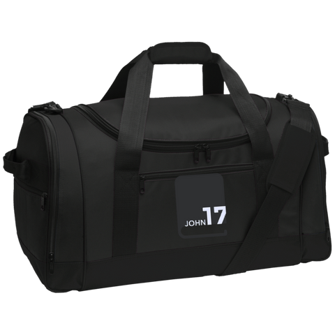 John17 Black Travel Sports Duffel