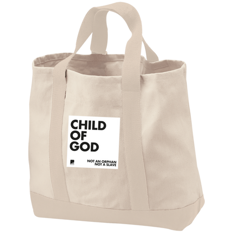 Child of God Cotton Twill Bag with Natural straps