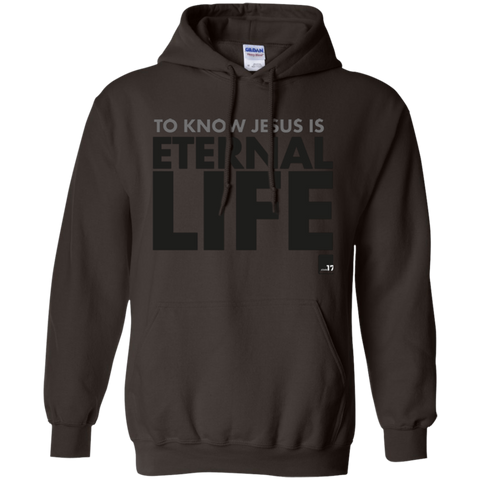 To Know Jesus Dark Chocolate Pullover Hoodie
