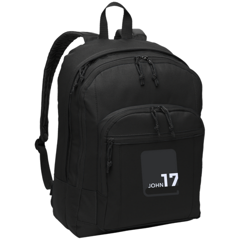 John17 Black Backpack