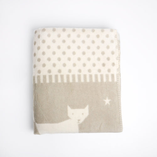 David Fussenegger bamboo Starry Fox blanket. Perfect for the nursery or as a gift.