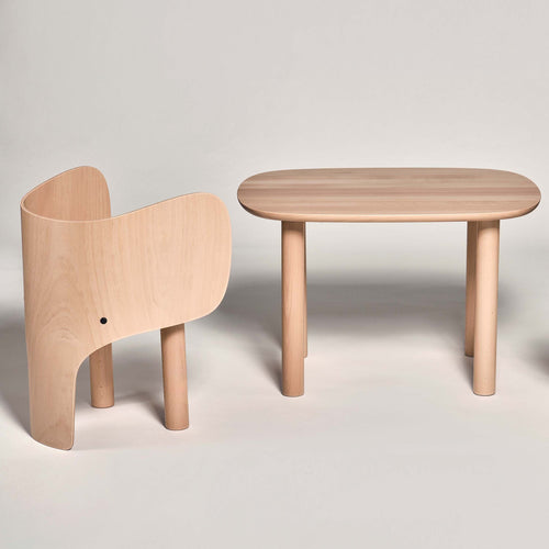 Elements Optimal Elephant Chair and Elephant Table full view.