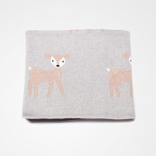 Sweet deer blanket for baby or child. Designed locally in Melbourne with a Scandinavian style.