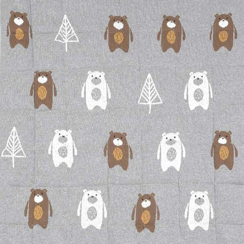 Indus bear in the woods quilt