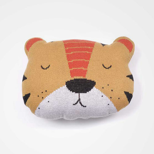Indus tiger cushion. Perfect for the nursery or kids room and great as a gift.