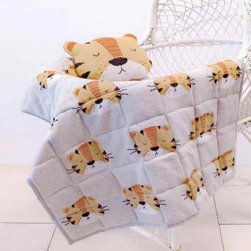 Indus tiger cushion and tiger quilt